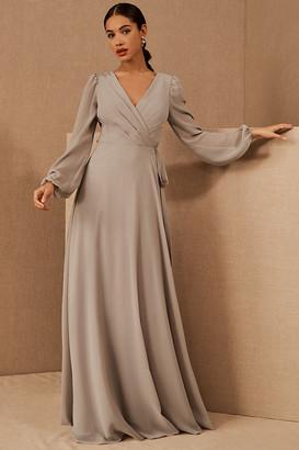 Jenny Yoo Idris Wrap Dress By in Grey Size 0