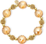 JCPenney MONET JEWELRY Monet Yellow Stone Gold-Tone Stretch Bracelet