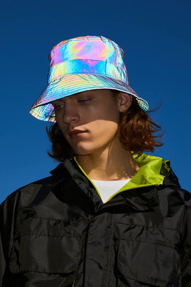 Urban Outfitters Iridescent Nylon Bucket Hat