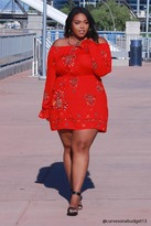 Forever 21 FOREVER 21+ Plus Size Belted Floral Dress