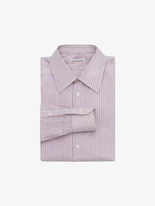 Alexander McQueen Point Collar Cotton Poplin Shirt