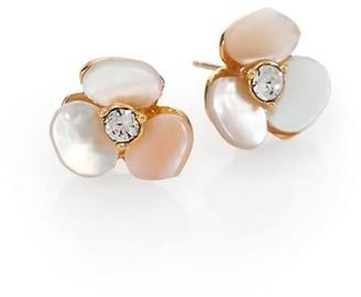 Kate Spade Disco Pansy Mother-of-Pearl Mini Stud Earrings