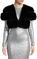 Belle Fare Rex Rabbit & Stud Short Bolero/Shrug Jacket