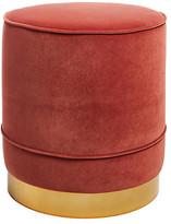 Kim Salmela Piper Stool - Rust Velvet frame, brass; upholstery, rust