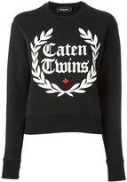DSQUARED2 Caten Twins wreath sweatshirt - women - Cotton - XS