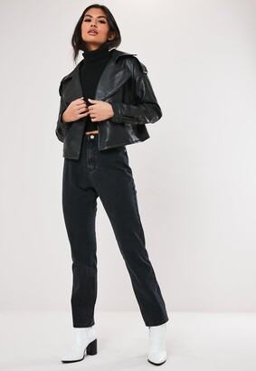 Missguided Black Wrath Highwaisted Straight Jeans