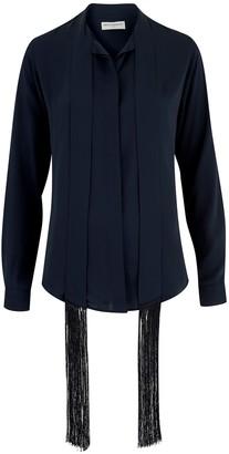 Amanda Wakeley Sinai Midnight Fringe Shirt