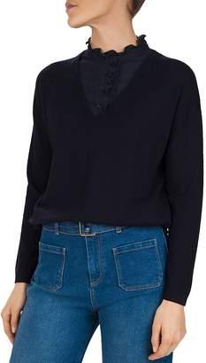 Gerard Darel Removable Bib V-Neck Sweater