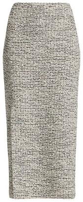 St. John Boucle Knit Slit Pencil Skirt
