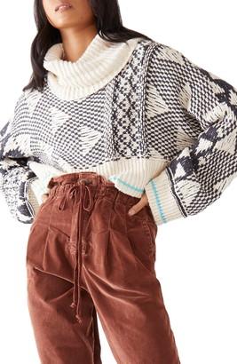 Free People Jupiter Cotton Turtleneck Sweater