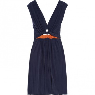 Roksanda Ilincic Navy Silk Dress for Women