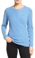 Nordstrom Women's Mitered Rib Cashmere Pullover