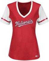 Majestic Women's Washington Nationals Curveball T-Shirt