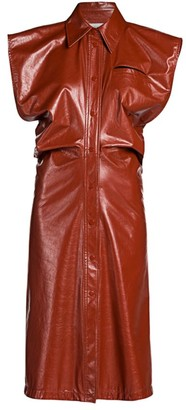 Bottega Veneta Collared Leather Dress