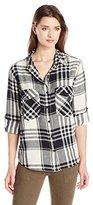 Sanctuary Women's Boyfriend Plaid Shirt
