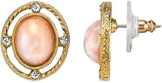 Downton Abbey Cabochon Stud Earrings
