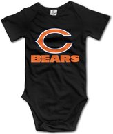 QGQChao Baby Onesies Chicago Baby Bears Fan Cute Baby Jumpsuit Short Sleeve