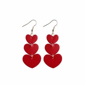 Ways Women Girls Valentine's Day Party Faux Leather Drop Dangle Earrings Accessory