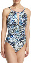 Magicsuit Kat Sea Glass Printed One-Piece Swimsuit