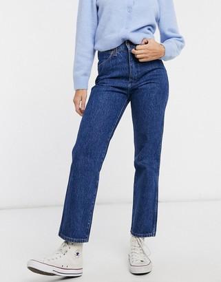 Wrangler Wild West high rise straight leg jeans in dark wash