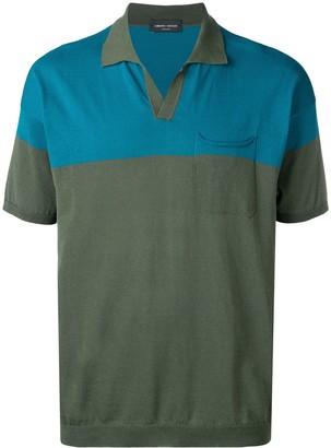 Roberto Collina Colour Block Polo Shirt