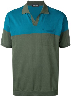 Roberto Collina colour block polo shirt