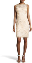 Sue Wong Open-Back Beaded Cocktail Dress