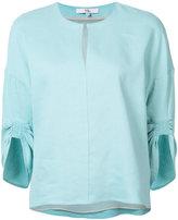 Tibi plain blouse - women - Silk/Linen/Flax/Spandex/Elastane/Viscose - XS