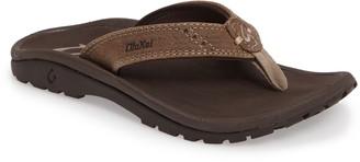 OluKai Nui Leather Flip Flop