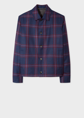 Paul Smith Men's Navy Check Wool Jacket