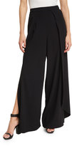 Alice + Olivia Larissa Pleated Wide-Leg Pants, Black
