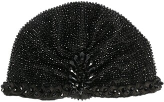 MaryJane Claverol Beaded Turban Hat