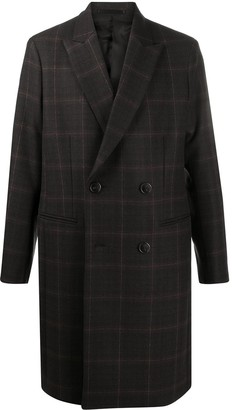 Theory Kensington check wool coat