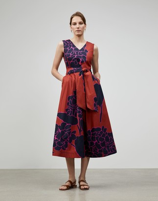 Lafayette 148 New York Hydrangea Print Vienna Dress
