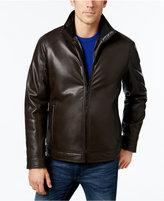 Calvin Klein Men's Faux-Leather Faux-Fur Lined Jacket
