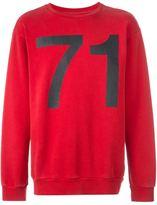 Palm Angels 71 print sweatshirt - men - Cotton - M