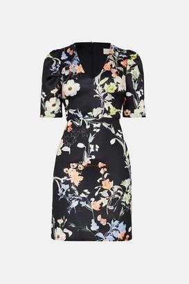 Coast A-Line Short Sleeve V-Neck Dress