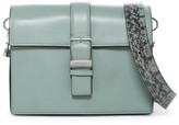 Louise et Cie Lowe Snake-Embossed Strap Leather Shoulder Bag