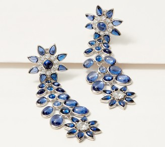 Diamonique TOVA Tanzanite Flower Statement Earrings