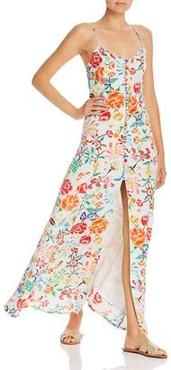 All Things Mochi Melissa Floral Silk Maxi Dress