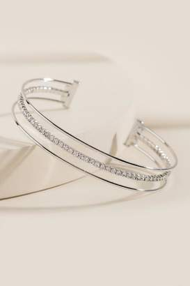 francesca's Ciara Open Bangle Bracelet - Silver