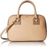 Calvin Klein Small Saffiano Satchel Bag