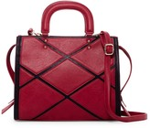 Pink Haley Acacia Patchwork Faux Leather Satchel