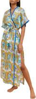 Paolita Phoenix-Print Long Kimono Coverup