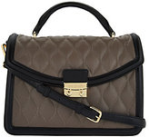 Vera Bradley As Is Quilted Leather Satchel - Lydia