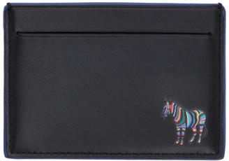 Paul Smith Black and Blue Zebra Card Holder