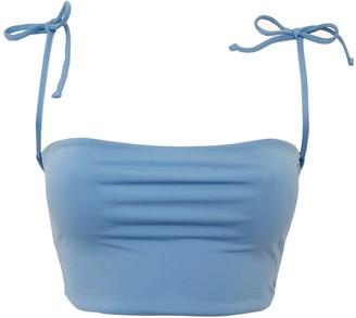 Terra Dea Full Bust Loco Reversible Bikini Top - Blue & White
