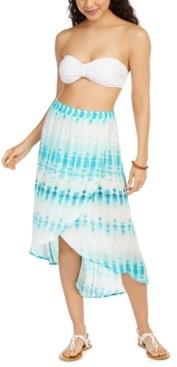 J Valdi Tie-Dyed Swim Cover-Up Skirt Women's Swimsuit