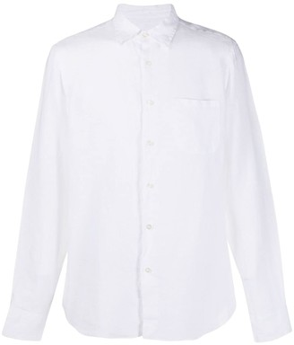 Peninsula Swimwear Single-Pocket linen shirt