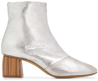 Forte Forte Wooden Heel Ankle Boots